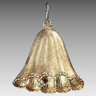 14K Bell Shaped Pendant or Charm with Diamond
