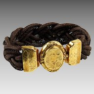 Antique 18K Gold French Mourning / Hair Bracelet