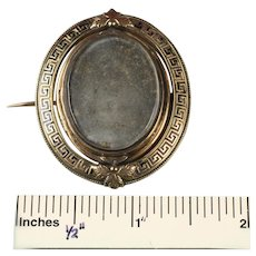 Antique Gold Filled Mourning Brooch