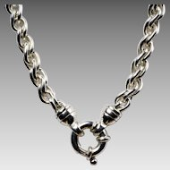 "18"" Long Heavy Sterling Necklace"