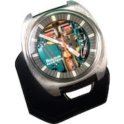 Large Stainless Steel Bulova Accutron Model 214 Spaceview Wrist Watch