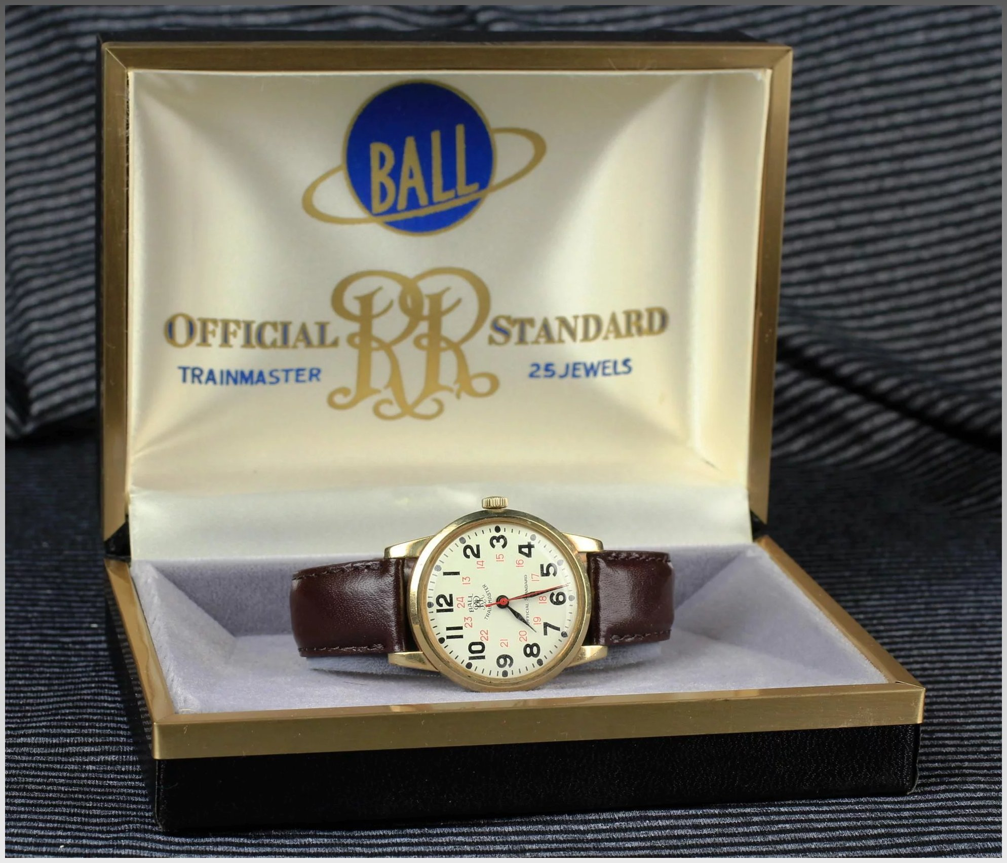 official watch watches gold railroad jewels filled antique products standard pocket waltham ball by
