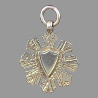 English Sterling Silver Watch Fob or Pendant / Charm