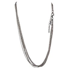 Sterling Silver Five Strand Necklace