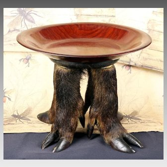 Wildlife Footed Walnut Compote Bowl
