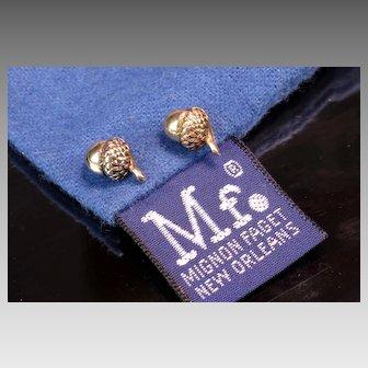 14K Mignon Faget 'Acorn' Earrings - New Orleans Jeweler