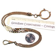 """Antique Gold Filled 10"""" Pocket Watch Chain"""
