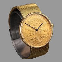 Corum Double Eagle $20 Coin Watch with 18K Corum Band