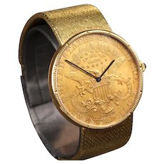 f81240ee38cae Corum Double Eagle  20 Coin Watch with 18K Corum Band