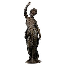 Bronze Statue Only for Antique French 8 Day Guilmet Swinging Mystery Clock