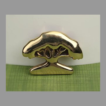 14K New Orleans Jeweler Tree Pin / Pendant