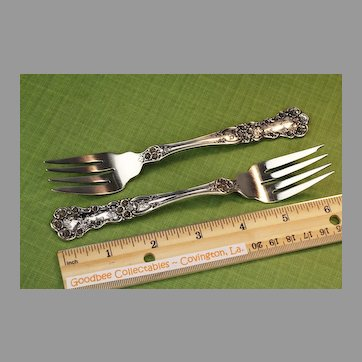 Two Sterling Silver Gorham Buttercup Salad Forks