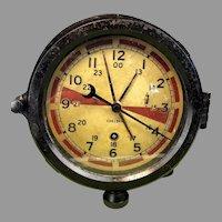 1940's Chelsea Maritime Radio Room Clock