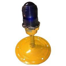 Authentic Blue Taxiway Airport Light Fixture - Desk Lamp