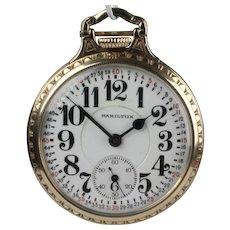 Hamilton 21 Jewel Railroad Grade 992 Pocket Watch with Montgomery Dial