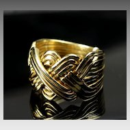 Extra Large 14K Man's 12 Piece Puzzle Ring