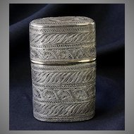 Russian Antique Cigarette Case - Sterling Silver Filigree Russia 19th Century