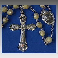 Sterling and Mother of Pearl Rosary