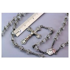 Crystal & Sterling Silver Rosary