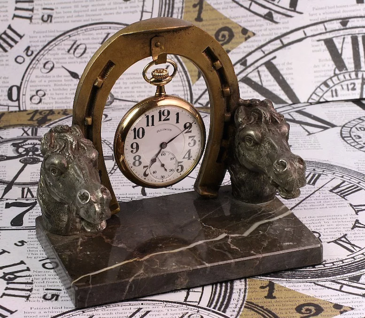 Antique Pocket Watch Holder - Equestrian Theme : Goodbee Collectables |  Ruby Lane