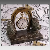 Antique Pocket Watch Holder - Equestrian Theme
