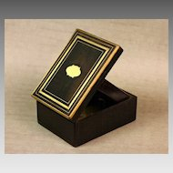 Brass Inlaid Walnut Antique Pocket Watch Holder/Display