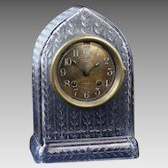 Rare Chelsea Ship Clock in an Antique Cut Glass Case
