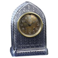 Rare Chelsea Ship Clock in an Antique Cut Glass Case