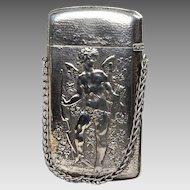 Gorham Antique Sterling Card Holder Depicting Cupid - Mardi Gras
