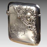 800 Silver Match Safe Vesta
