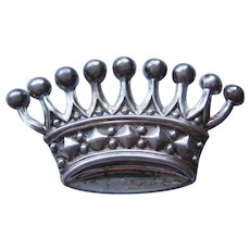Vintage Lang Sterling Crown Brooch-Pin