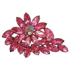 Vintage Pink Rhinestone Pin-Brooch
