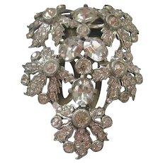Unsigned Eisenberg Floral Dress Clip -Brooch