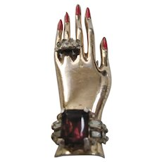 Vintage Coro Hand with Painted Nails and Jewelry-Aldof Katz Design-Fur Clip