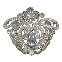 Vintage Weiss Co NYC Rhinestone Brooch-Pin- Pendant