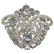 Vintage Weiss Co NYC Rhinestone Brooch-Pin- Pendant
