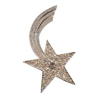 Vintage Shooting Star Comet Brooch-Pin