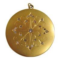 Vintage Victorian Gold Filled Large Picture Locket