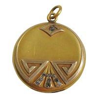 Vintage Art Deco Gold Filled Picture Locket
