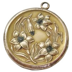 Vintage Art Nouveau Gold Filled Floral Locket Pendant
