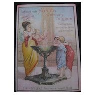 Vintage Original German Hoyt's Perfume Trade Card-Lowell Mass-USA