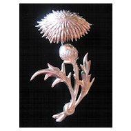 Beautiful Lang Sterling Thistle Pin -Brooch -Pendant