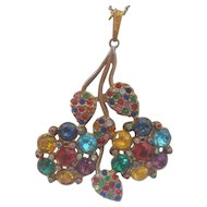 Vintage Little Nemo Style Multi Colored Pendant with Chain