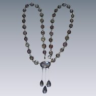 An Edwardian Sterling Silver & Amethyst Neglige Pendant-Necklace. Circa 1905.