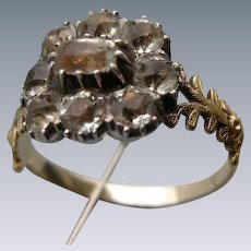 A Georgian 15 ct Gold and Paste Ring. Circa 1820.