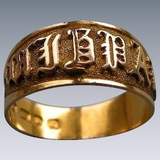 A Victorian 18 ct Gold MIZPAH Ring. Circa 1885