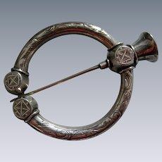 A Scottish Sterling Silver Ring Brooch. Circa 1860