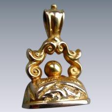 An Edwardian 9ct Gold Fob Seal. Circa 1909.