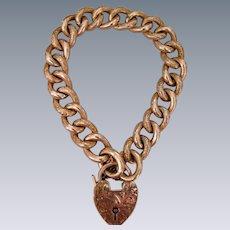 An Edwardian 9 ct Gold  Curb Link Bracelet. Circa 1905.