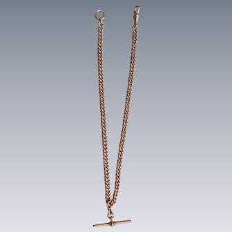 A Victorian 9 ct Gold Albert Chain Necklace. Circa 1890.